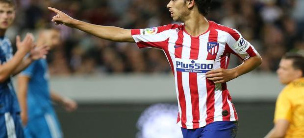 Joao Felix celebra uno de sus goles en el amistoso del Atlético ante la Juventus