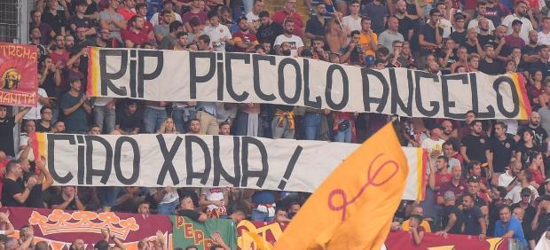Pancarta a Luis Enrique