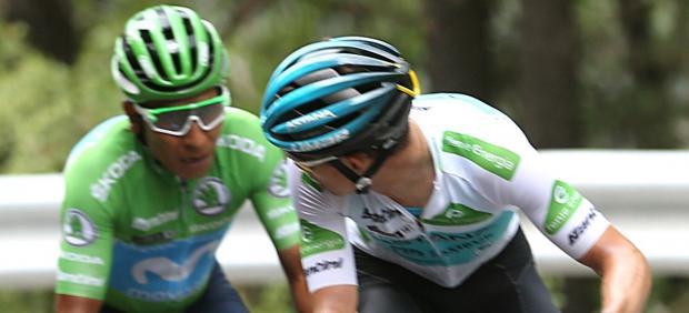 Nairo Quintana y Supermán López