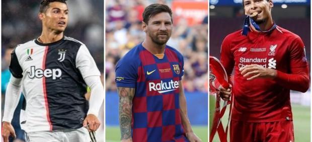 Cristiano Ronaldo, Messi y Van Dijk