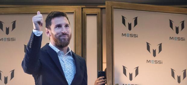 Leo Messi presenta una marca de ropa