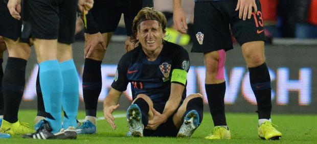 Luka Modric, lesionado en el Gales-Croacia