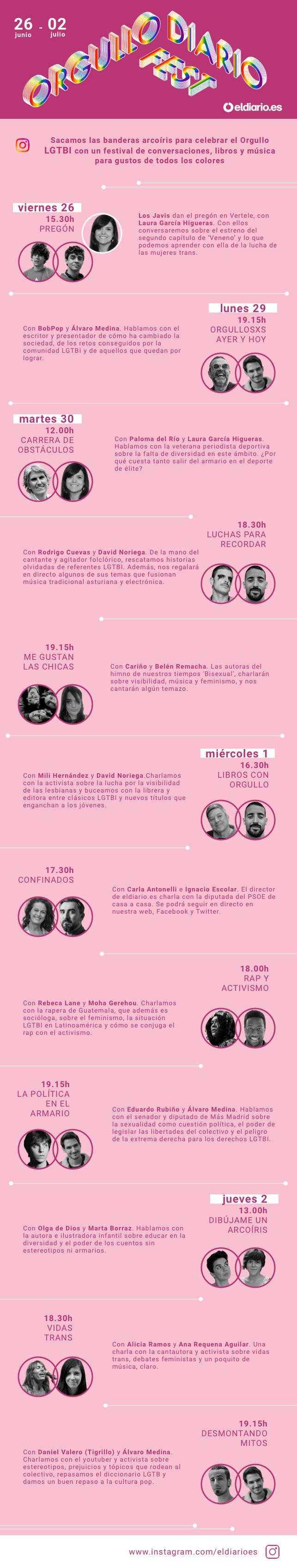 'Orgullo Diario Fest': el festival de charlas, música y activismo del Orgullo LGTBI 2020 de eldiario.es