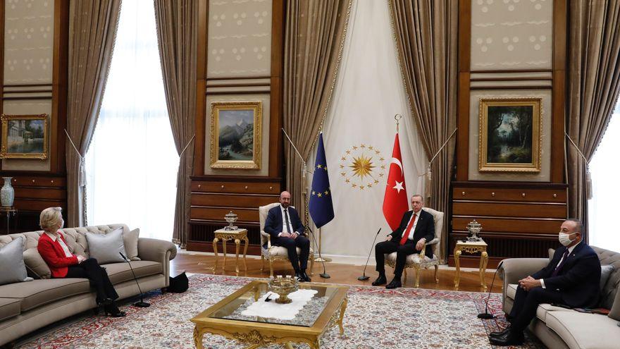 El protocolo machista del líder turco, Erdogan, con la presidenta de la Comisión Europea