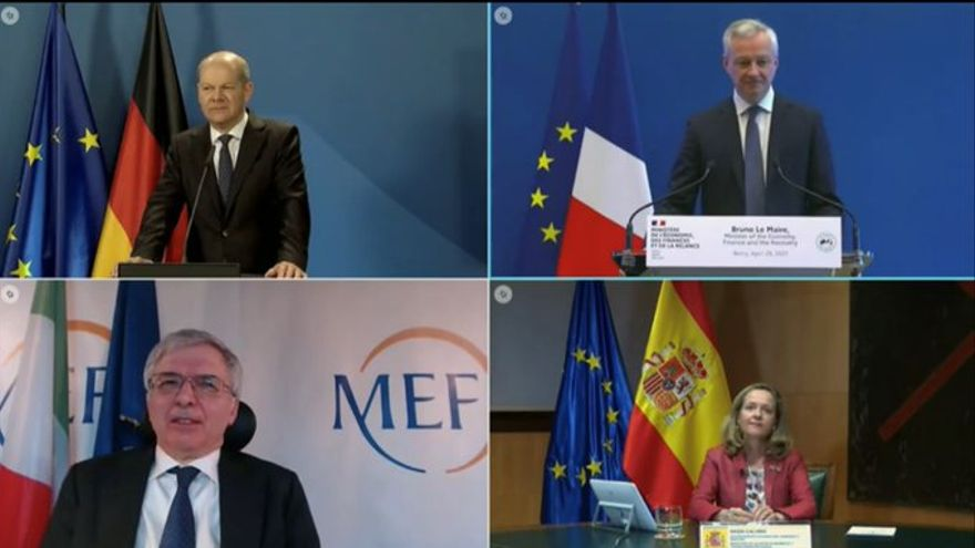 España, Italia, Francia y Alemania defienden un impuesto universal mínimo del 15% a las empresas tras la propuesta de EEUU ante el G7