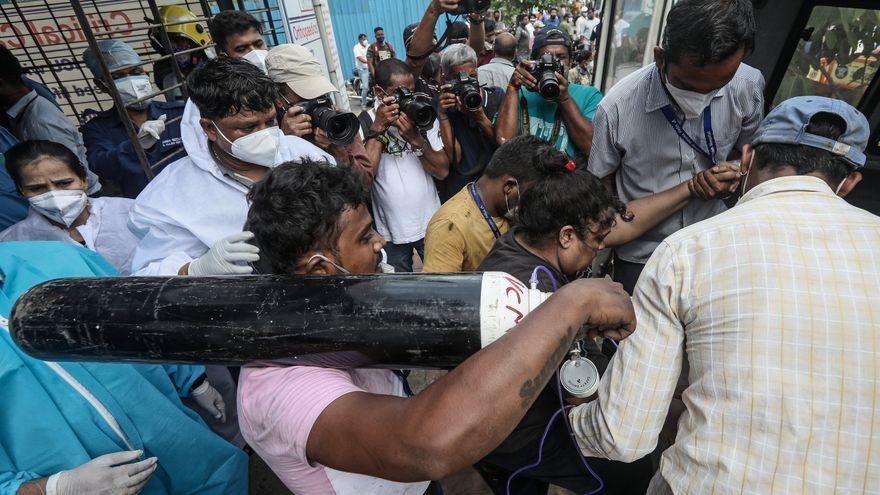 EEUU y la UE mandan ayuda a India, gravemente golpeado por la pandemia