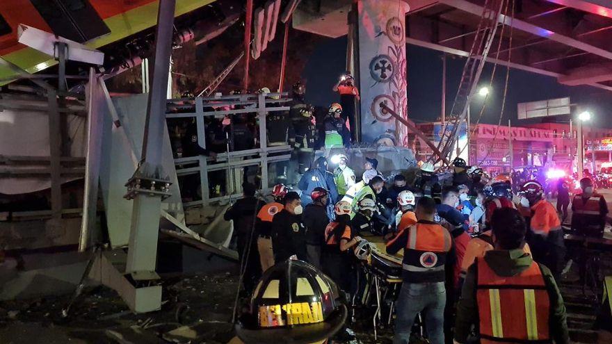 Al menos 23 muertos y cerca de 80 hospitalizados al desplomarse un tramo de metro en Ciudad de México
