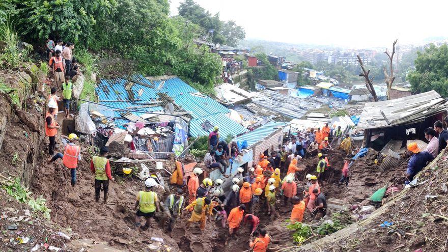 Más de 30 muertos tras fuertes inundaciones en el oeste de India